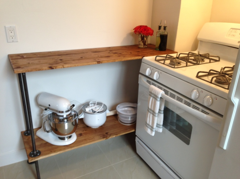Counter space and baker'srack