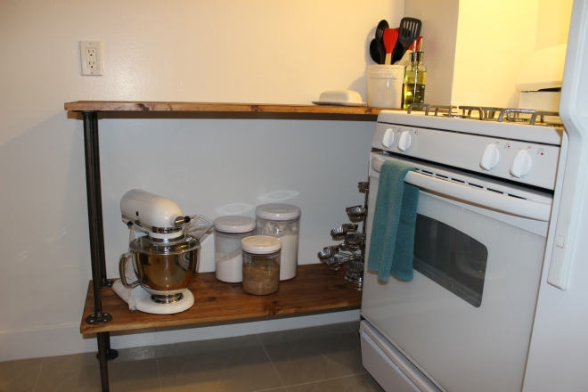 Shelf side view